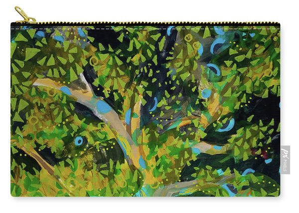 Branching Out Peacock Carry-all Pouch