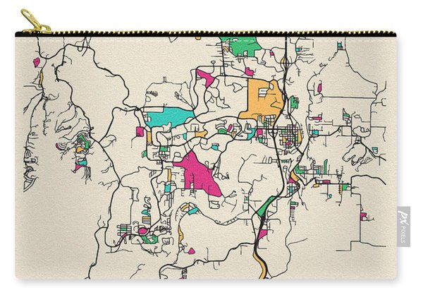 Branson, United States City Map Carry-all Pouch