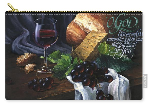 Bread And Wine Carry-all Pouch