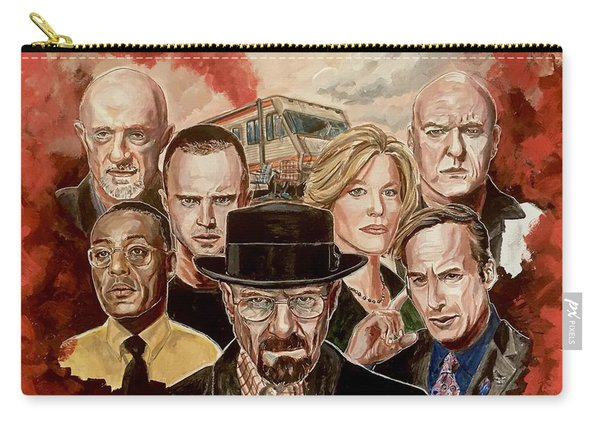 Carry-all Pouch featuring the painting Breaking Bad Family Portrait by Joel Tesch