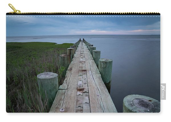 Breakwater At Harvey Beach In Old Saybrook Carry-all Pouch