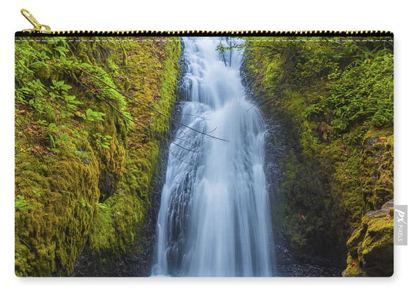Carry-all Pouch featuring the photograph Bridal Veil by Dheeraj Mutha