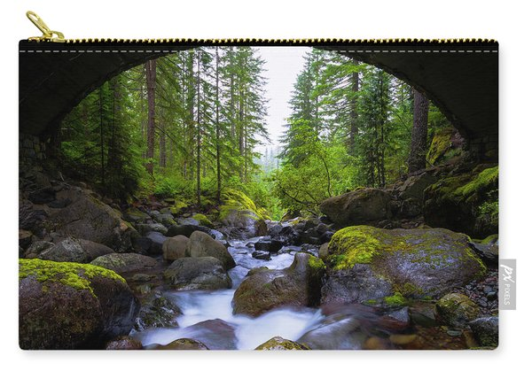 Bridge Below Rainier Carry-all Pouch