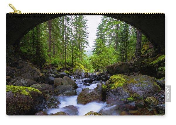 Bridge Below Rainier Carry-all Pouch