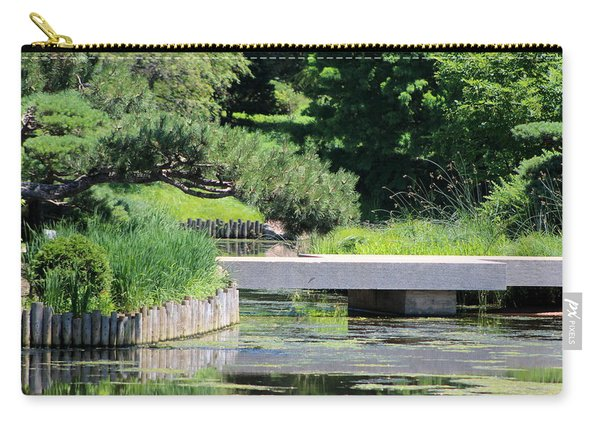 Bridge Over Pond In Japanese Garden Carry-all Pouch