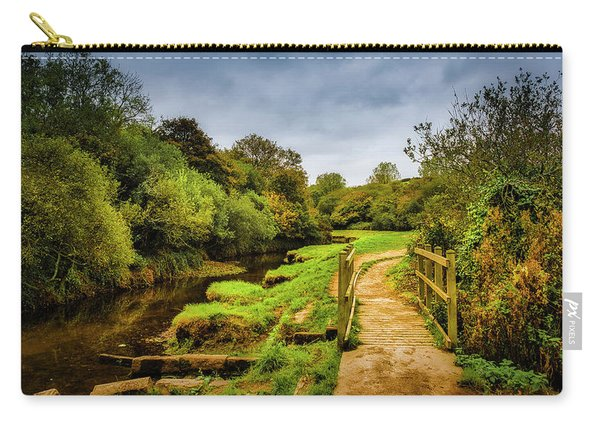Bridge With Falling Colors Carry-all Pouch