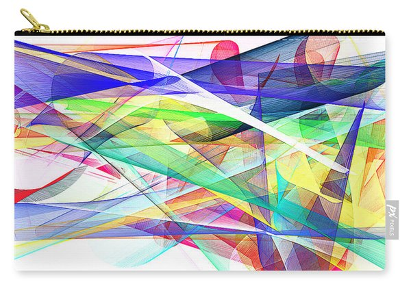 Bright Abstract 2 Carry-all Pouch