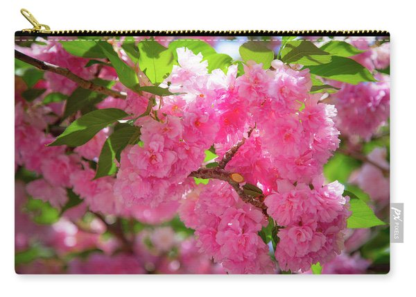 Bright Pink Blossoms Carry-all Pouch