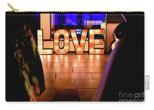 Bright Wooden Letters With Word Love In A Party Carry-all Pouch