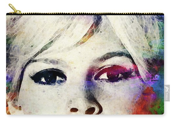 Brigitte Bardot Colorful Watercolor Carry-all Pouch