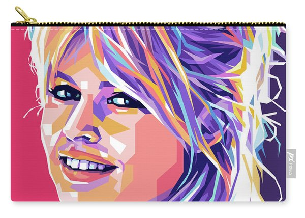 Brigitte Bardot Pop Art Carry-all Pouch