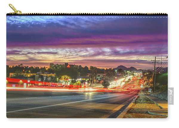 Broadway Sunset, Tucson, Az Carry-all Pouch