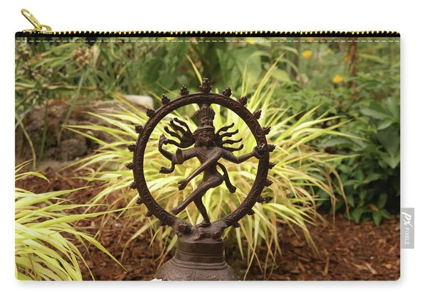 Bronze Shiva In Garden Carry-all Pouch