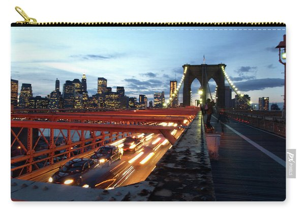 Carry-all Pouch featuring the photograph Brooklyn Bridge by Edward Lee