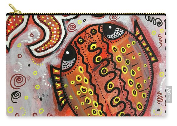 Brother Fish And Sister Starfish In Deep Conversation Carry-all Pouch