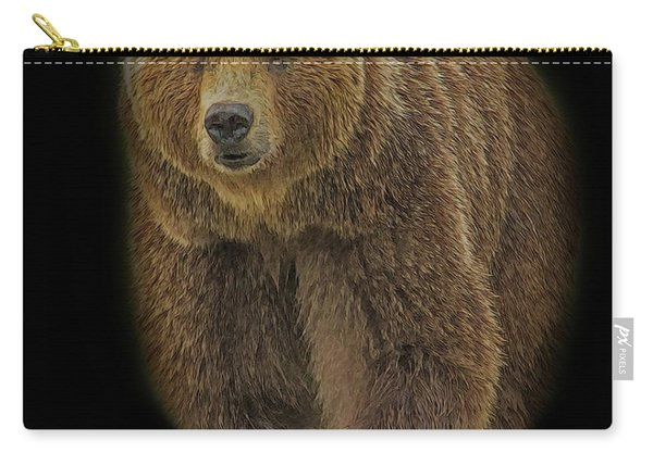 Brown Bear In Darkness Carry-all Pouch