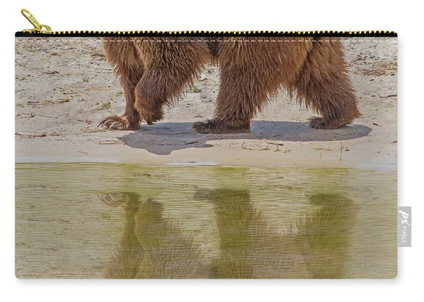 Brown Bear Reflection Carry-all Pouch