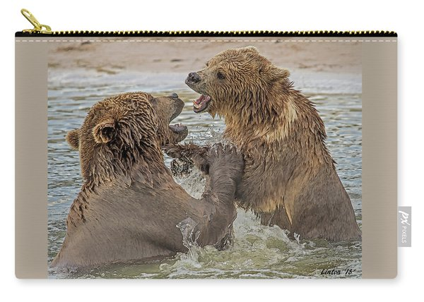 Brown Bears Fighting Carry-all Pouch