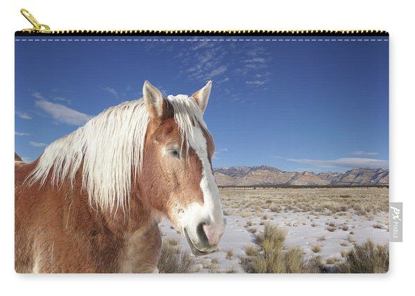 Brown Horse  Carry-all Pouch