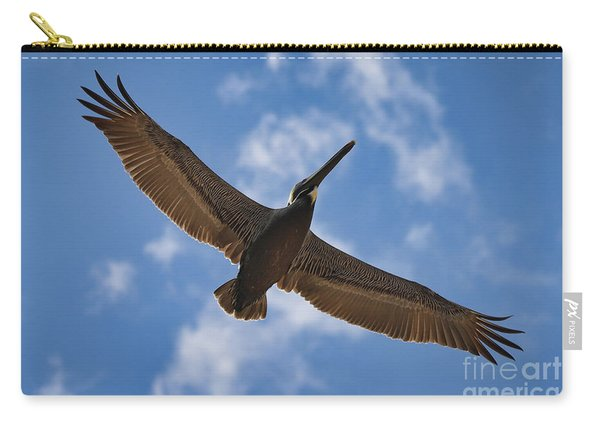 Brown Pelican In Flight Carry-all Pouch