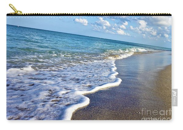 Carry-all Pouch featuring the photograph Bubbly Waves by Jimmy Clark
