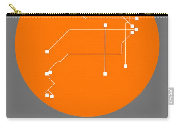 Buenos Aires Orange Subway Map Carry-all Pouch