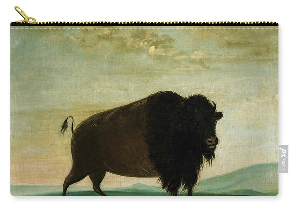 Buffalo Cow, Grazing On The Prairie, 1833 Carry-all Pouch