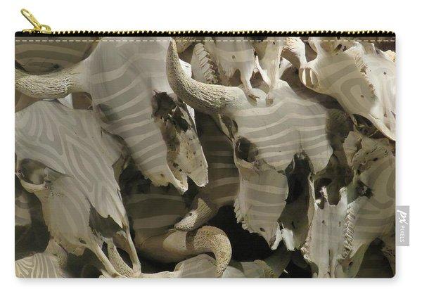 Buffalo Skulls Zebra Pattern 1 Carry-all Pouch