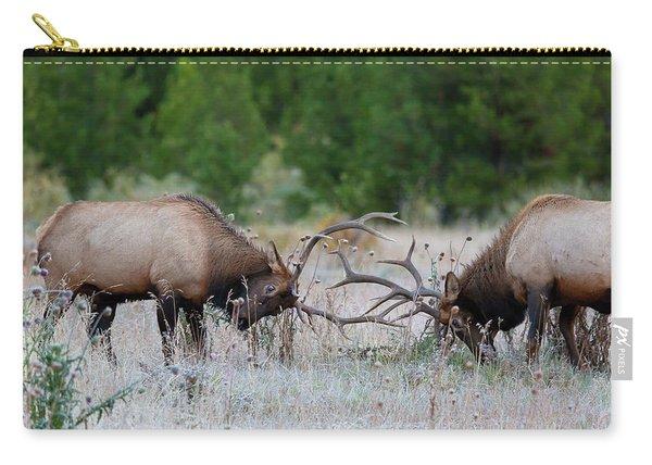 Bull Elk Battle Rocky Mountain National Park Carry-all Pouch