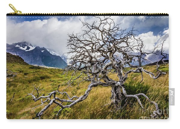 Burnt Tree, Torres Del Paine, Chile Carry-all Pouch
