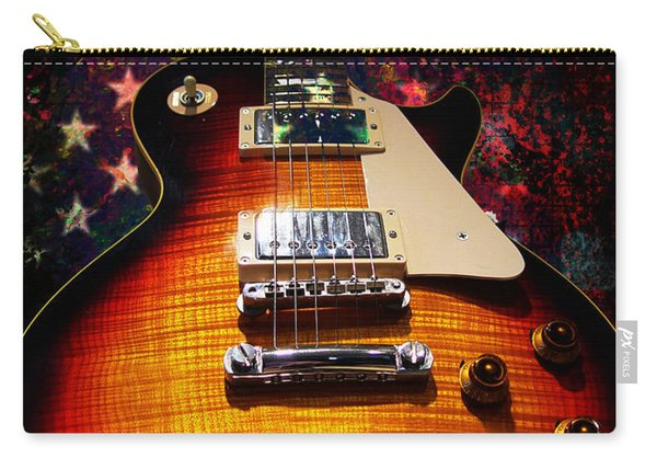 Burst Guitar American Flag Background Carry-all Pouch