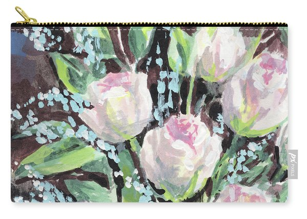 Burst Of Roses Flowers Bouquet Floral Impressionism  Carry-all Pouch