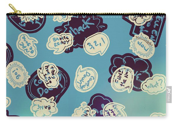 Bursts Of Cartoon Communication Carry-all Pouch