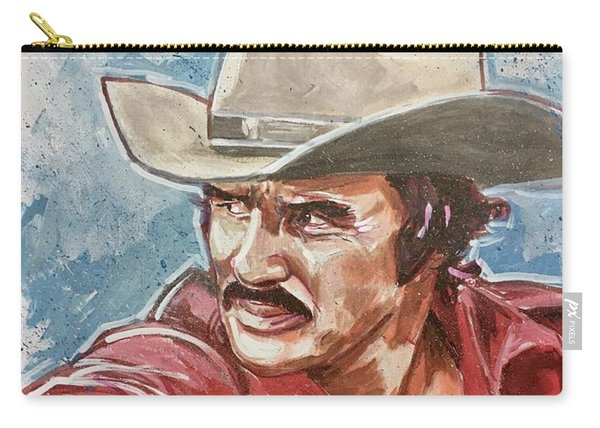 Carry-all Pouch featuring the painting Burt Reynolds by Joel Tesch