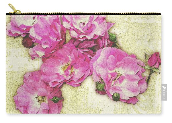 Bush Roses Painted On Sandstone Carry-all Pouch