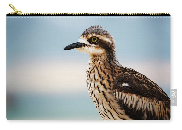 Bush Stone-curlew Resting On The Beach. Carry-all Pouch
