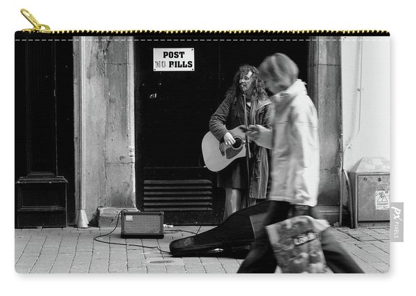 Carry-all Pouch featuring the photograph Busker by Edward Lee