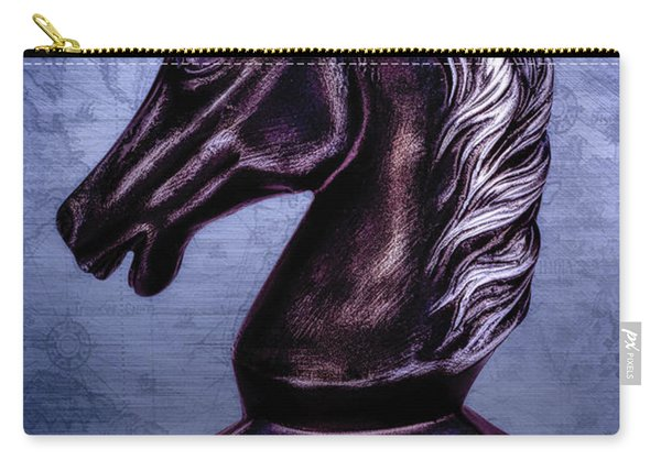 Bust Of The Black Knight Carry-all Pouch