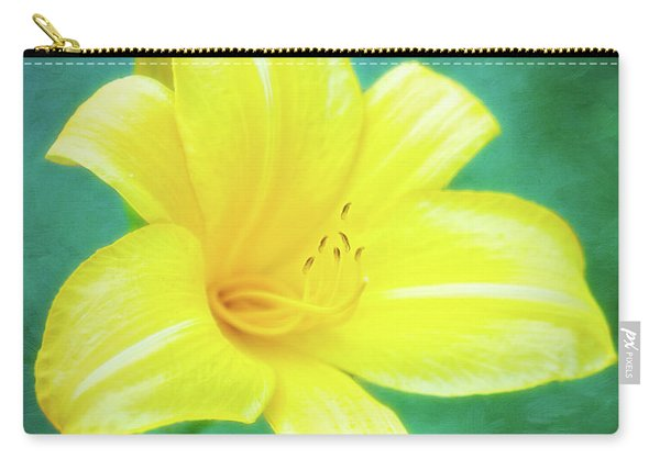 Buttered Popcorn Daylily In Her Glory Carry-all Pouch