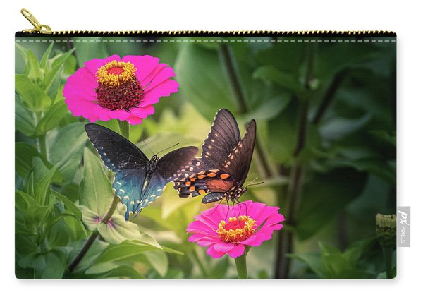 Carry-all Pouch featuring the photograph Butterflies by Allin Sorenson