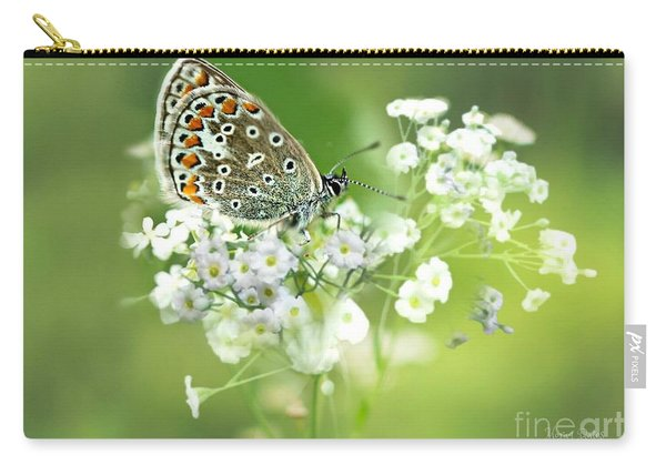 Butterfly On Babybreath Carry-all Pouch