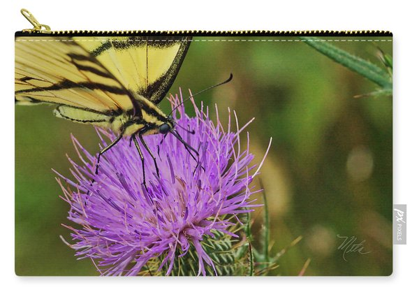 Butterfly On Bull Thistle Carry-all Pouch