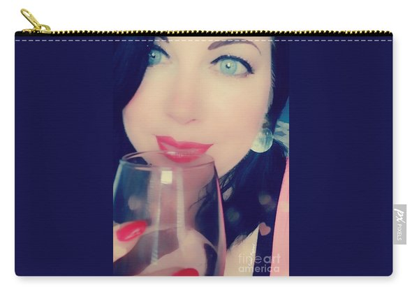 Carry-all Pouch featuring the mixed media Buveur De Vin by Rachel Maynard