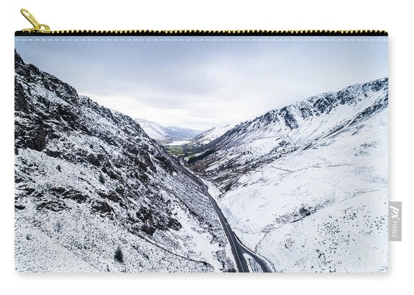 Bwlch Llyn Bach  In The Snow Carry-all Pouch