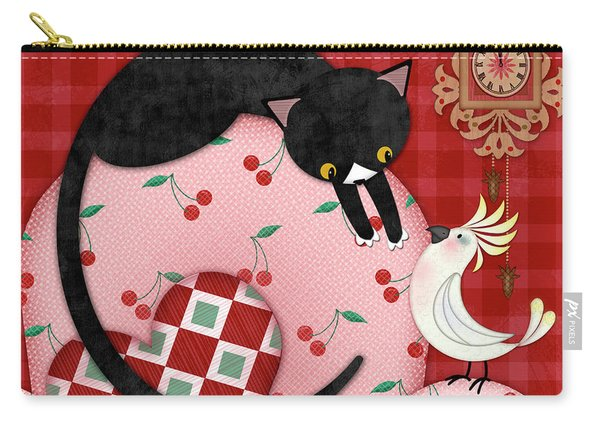 C Is For Cat, Cockatoo, And Coo Coo Clock Carry-all Pouch