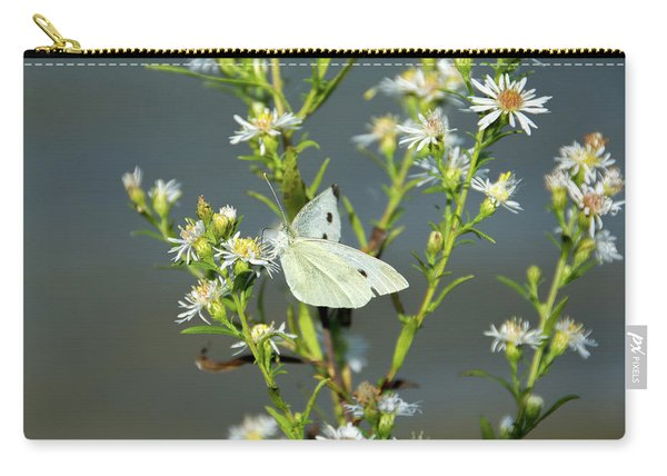 Cabbage White Butterfly On Flowers Carry-all Pouch