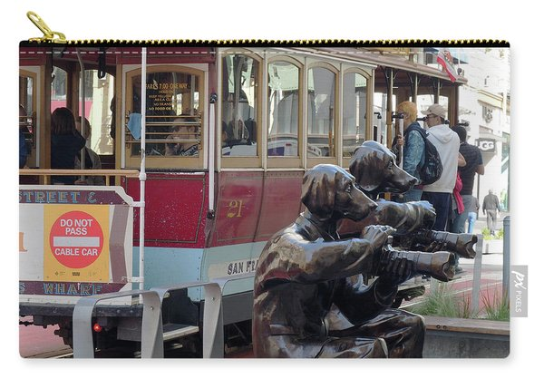 Cable Car And Paparazzi Dogs 2 Carry-all Pouch