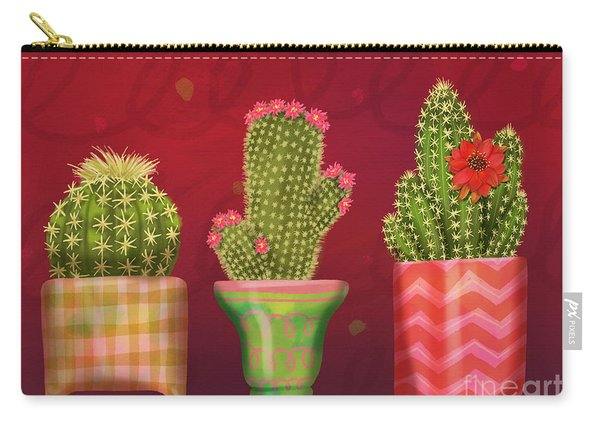 Cactus Friends I Carry-all Pouch