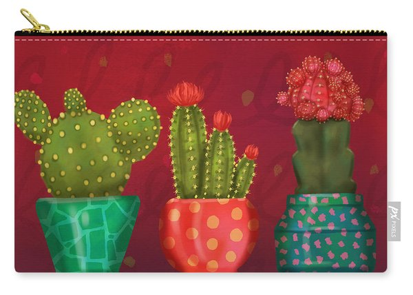 Cactus Friends II Carry-all Pouch