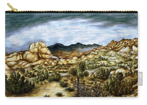 California Desert Landscape - Watercolor Art Painting Carry-all Pouch
